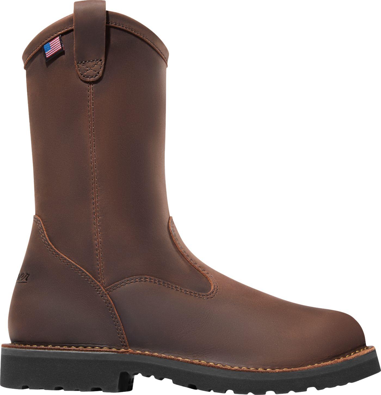 """Danner Men's Bull Run Wellington 11"""" EH Round Steel Toe Work Boots"""