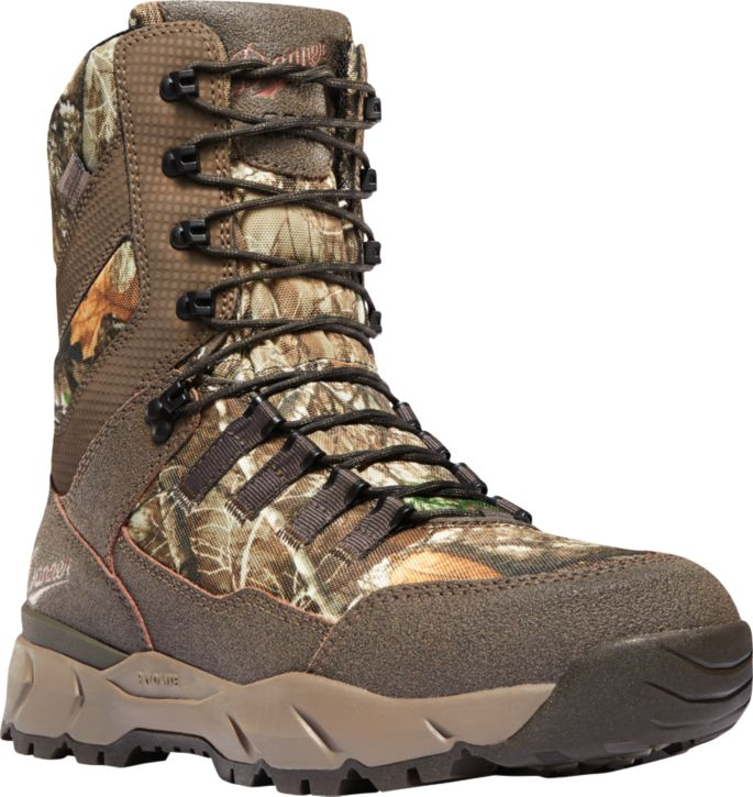 Mens Waterproof Shock Absorption Hunting Boots Camouflage