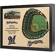 You the Fan Milwaukee Brewers 25-Layer StadiumViews 3D Wall Art