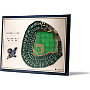 You the Fan Milwaukee Brewers 5-Layer StadiumViews 3D Wall Art