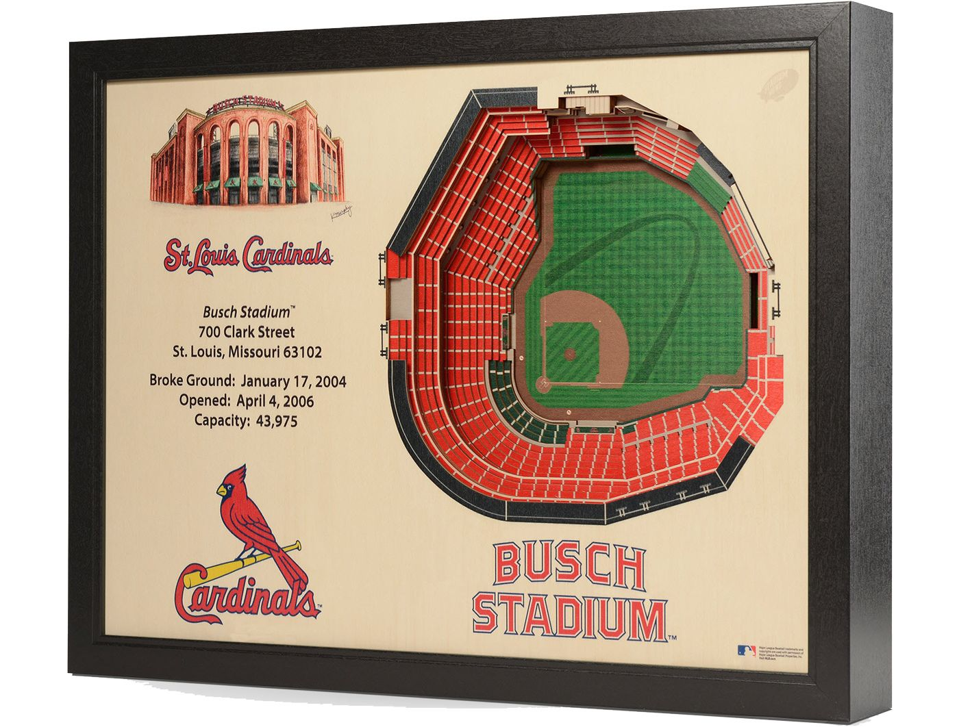 You the Fan St. Louis Cardinals 25-Layer StadiumViews 3D Wall Art