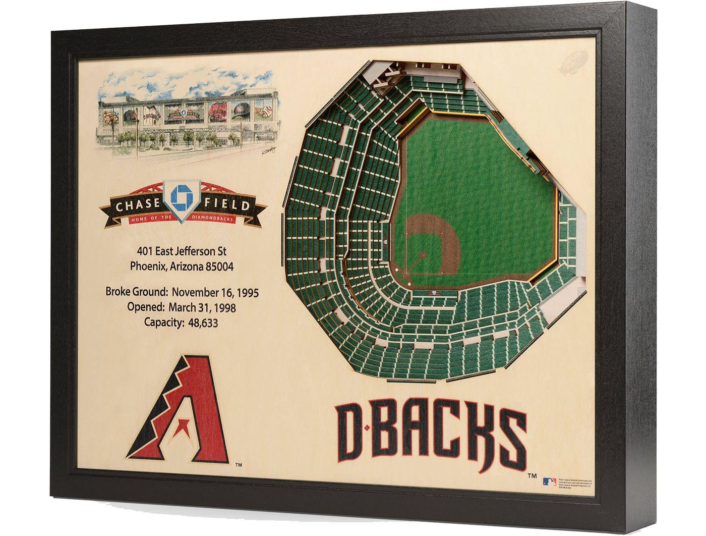 You the Fan Arizona Diamondbacks 25-Layer StadiumViews 3D Wall Art