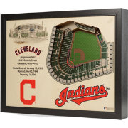 You the Fan Cleveland Indians 25-Layer StadiumViews 3D Wall Art