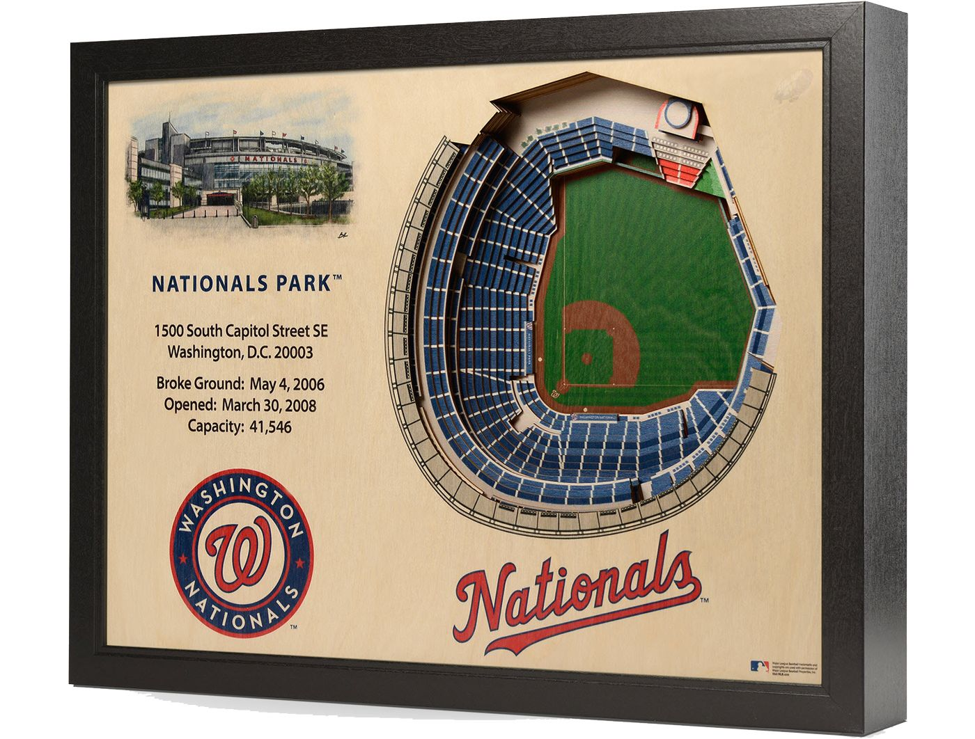 You the Fan Washington Nationals 25-Layer StadiumViews 3D Wall Art