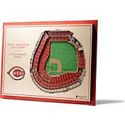 You the Fan Cincinnati Reds 5-Layer StadiumViews 3D Wall Art