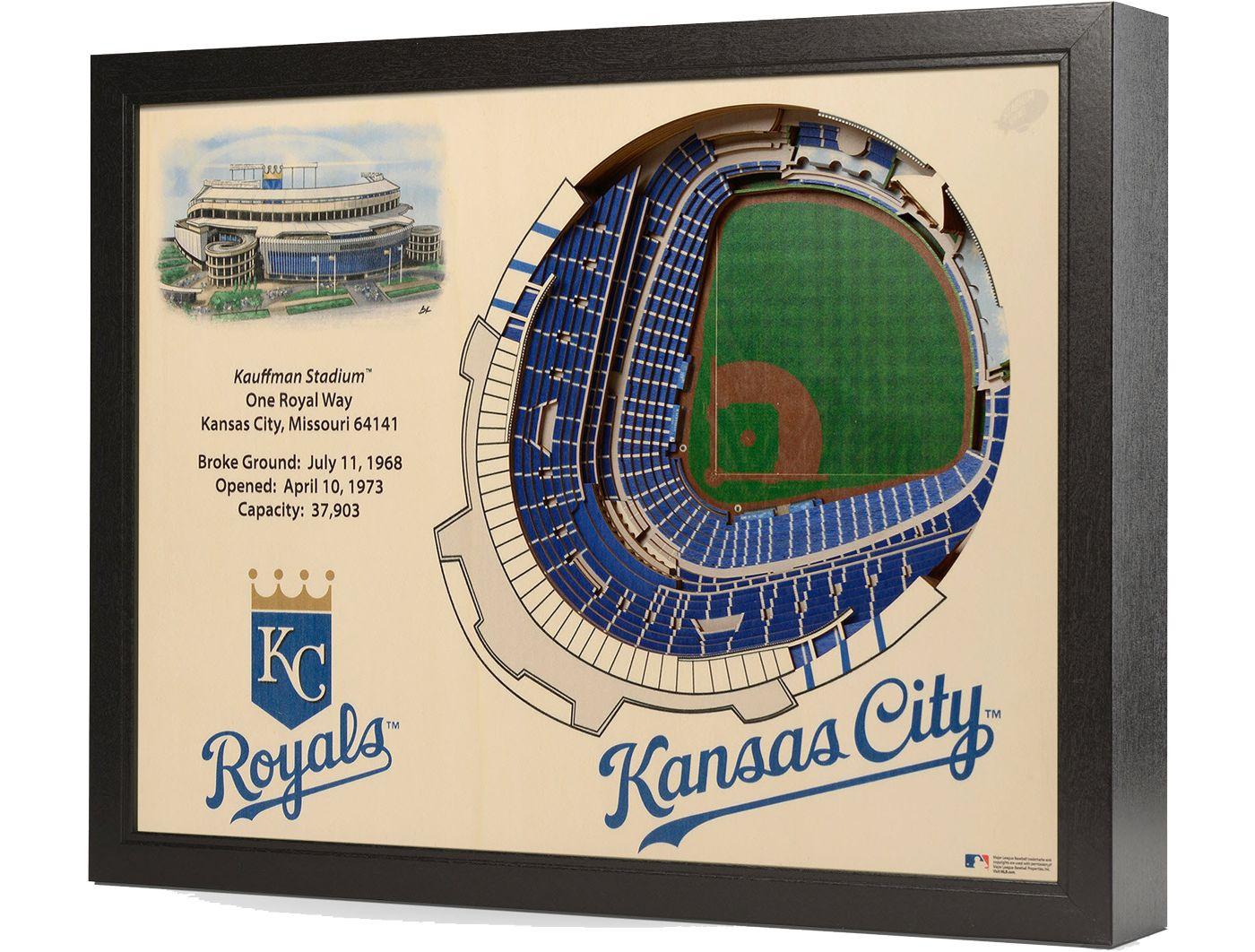 You the Fan Kansas City Royals 25-Layer StadiumViews 3D Wall Art