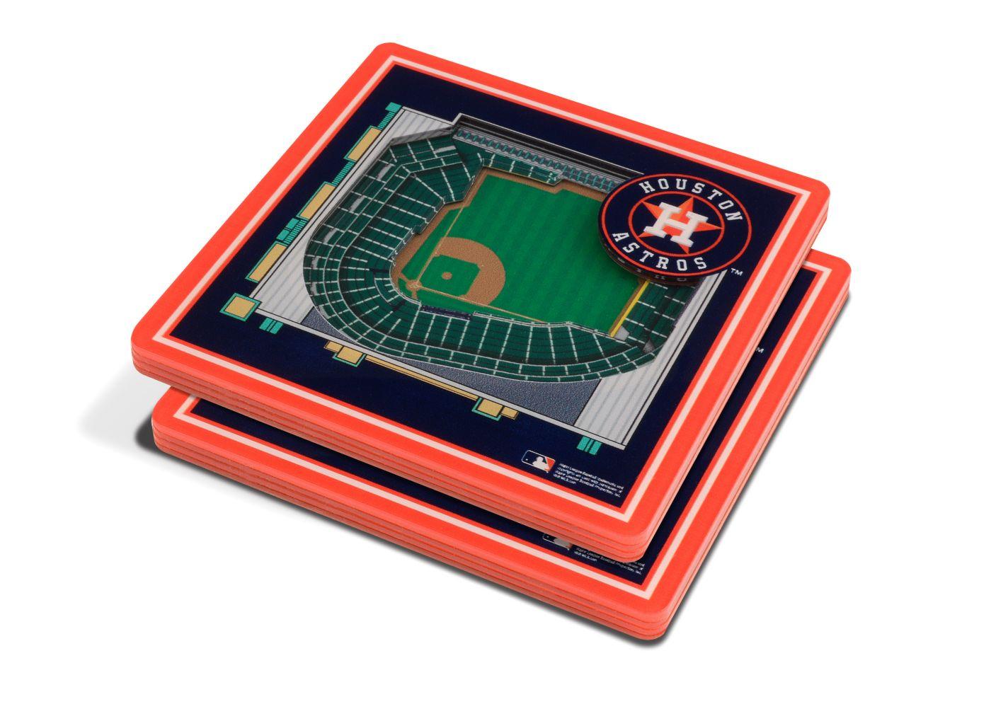 You the Fan Houston Astros 3D Stadium Views Coaster Set