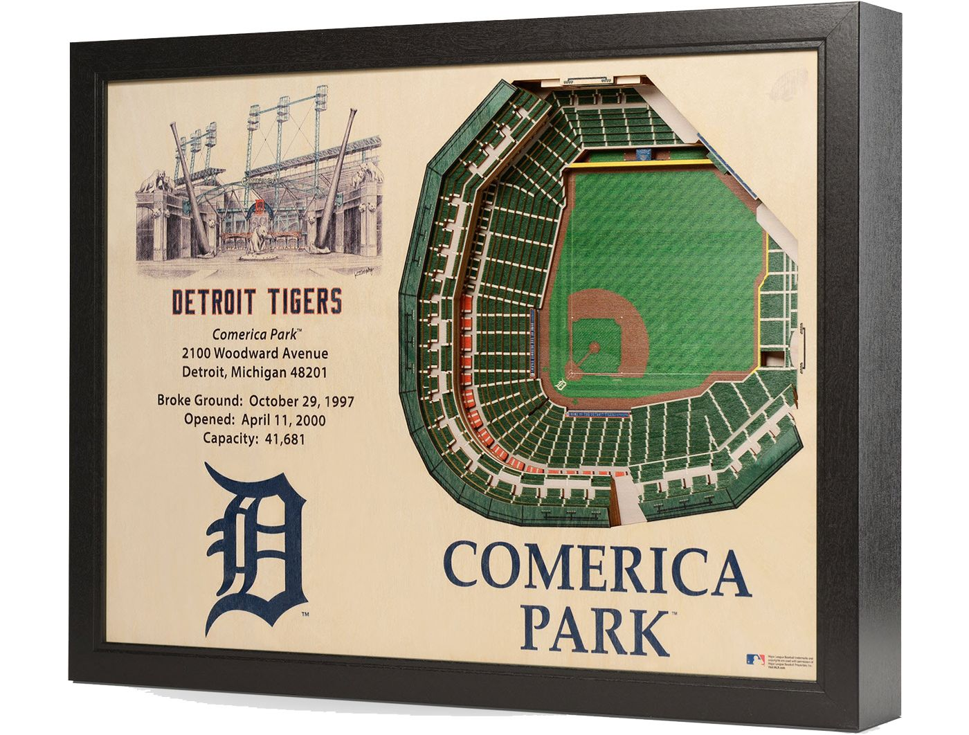 You the Fan Detroit Tigers 25-Layer StadiumViews 3D Wall Art