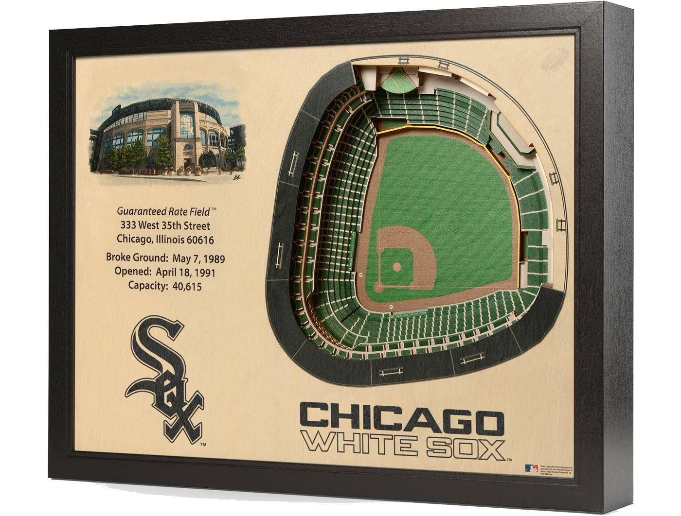 You the Fan Chicago White Sox 25-Layer StadiumViews 3D Wall Art