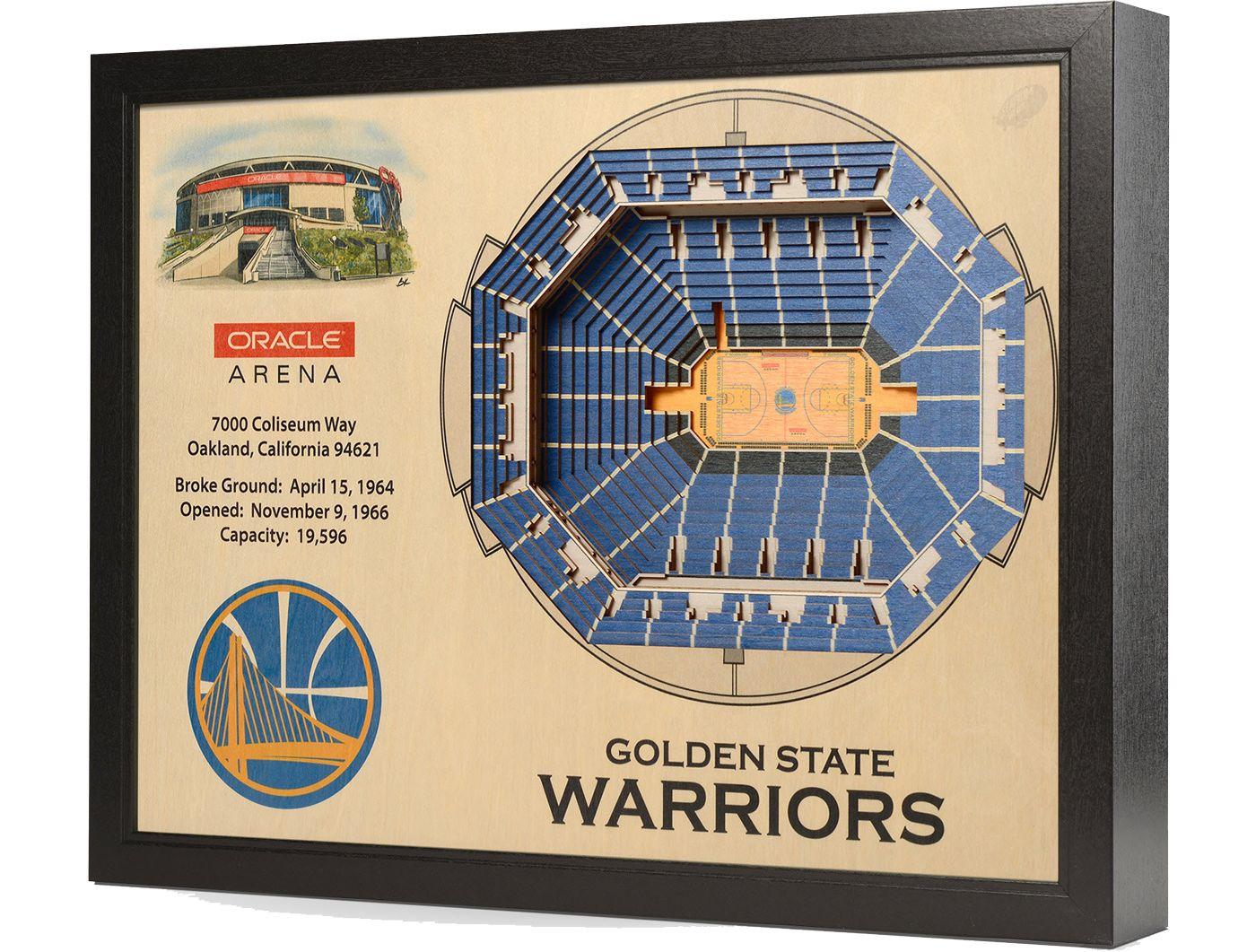 You the Fan Golden State Warriors 25-Layer StadiumViews 3D Wall Art