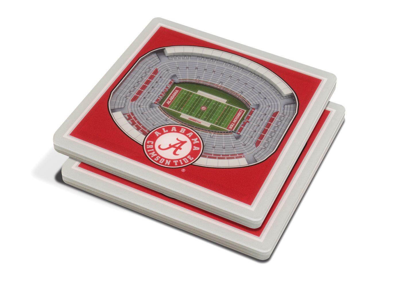 You the Fan Alabama Crimson Tide 3D Stadium Views Coaster Set