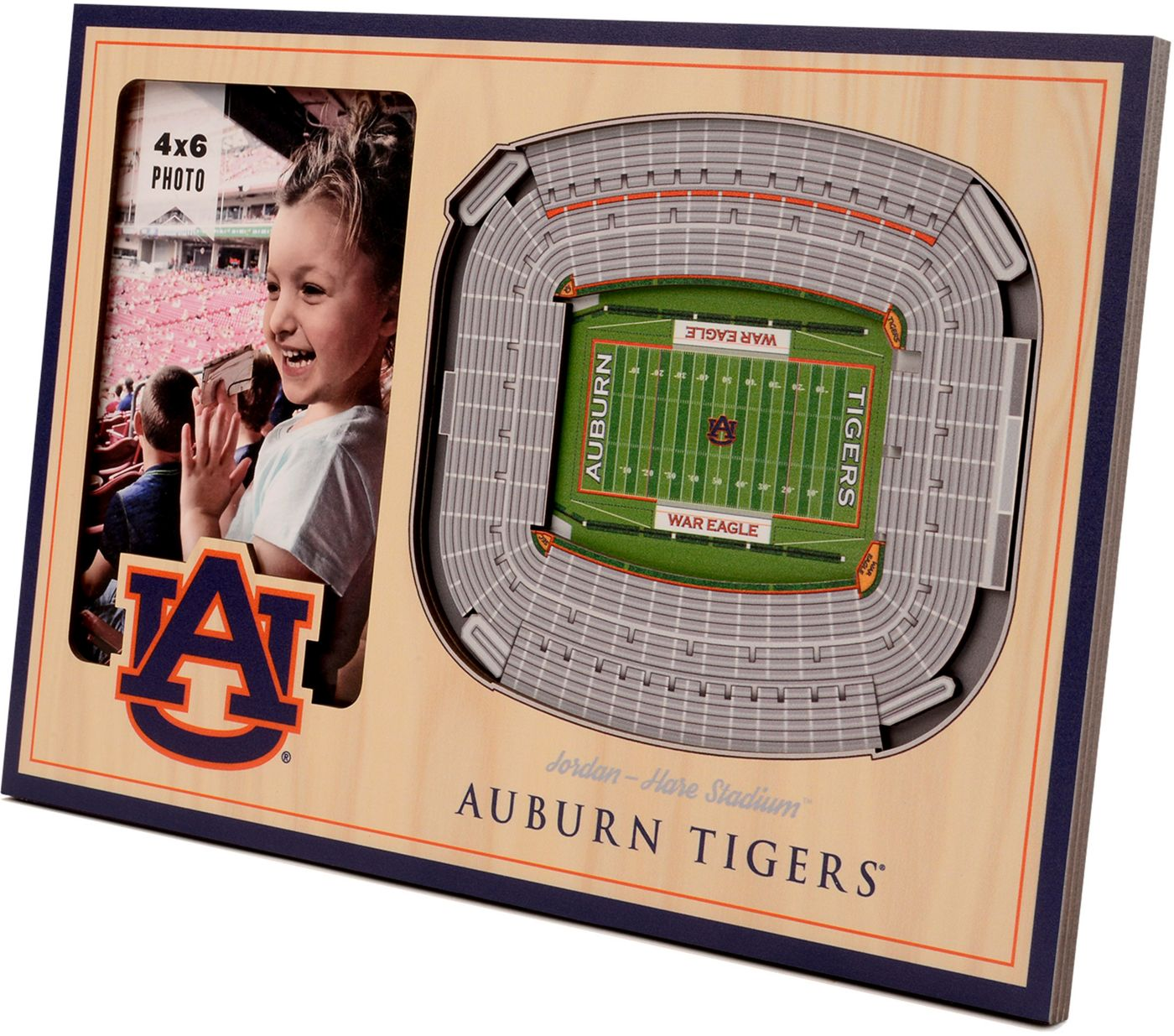 You the Fan Auburn Tigers 3D Picture Frame