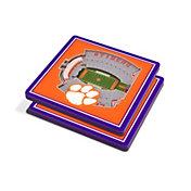 You the Fan Clemson Tigers 3D Stadium Views Coaster Set