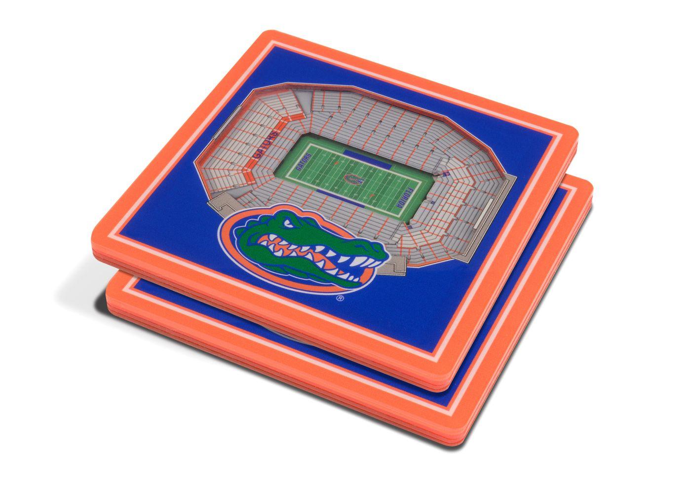 You the Fan Florida Gators 3D Stadium Views Coaster Set