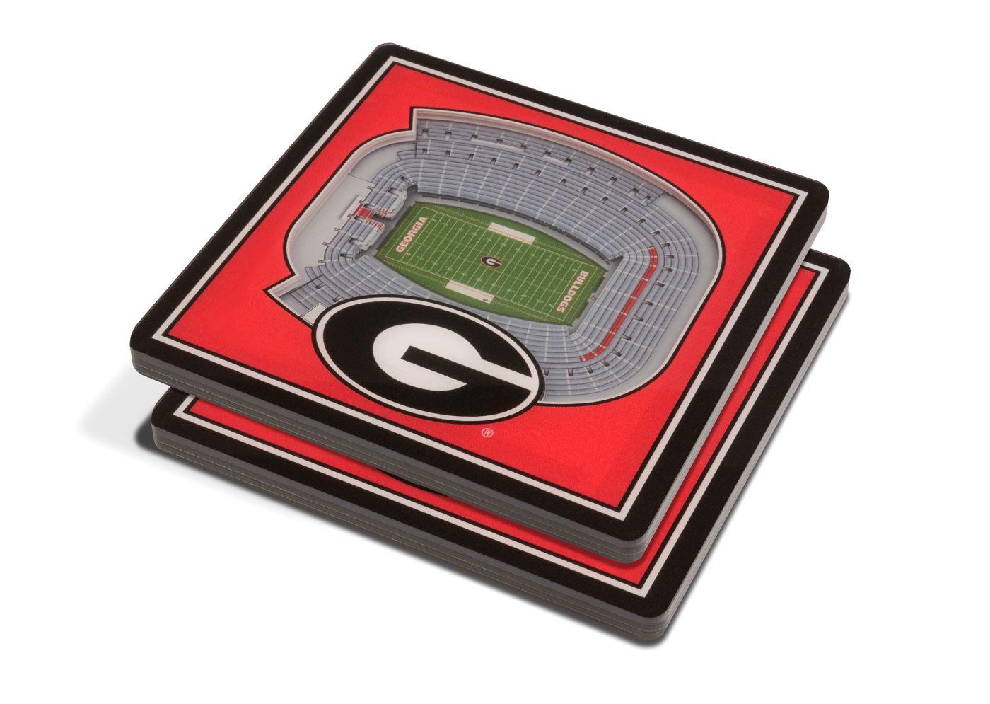 You the Fan Georgia Bulldogs 3D Stadium Views Coaster Set
