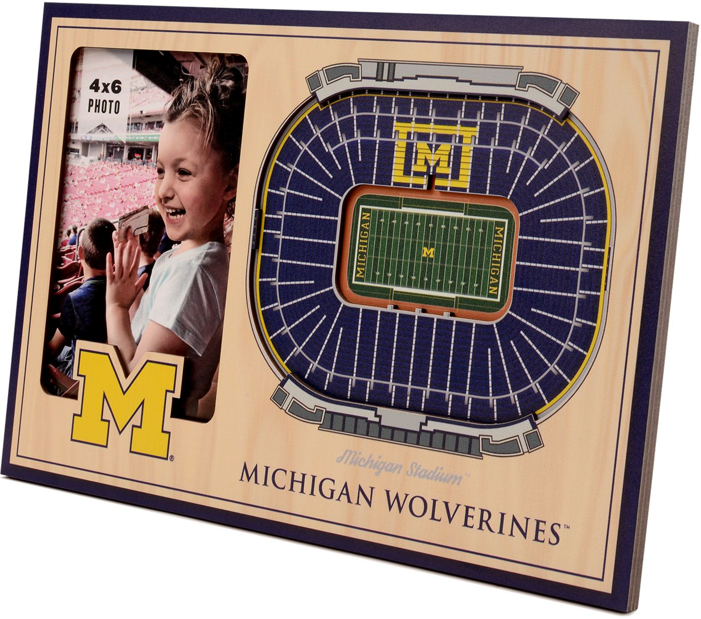 You the Fan Michigan Wolverines 3D Picture Frame