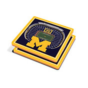 You the Fan Michigan Wolverines 3D Stadium Views Coaster Set