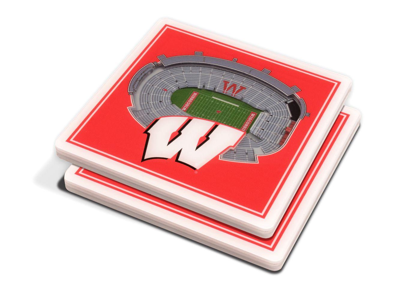 You the Fan Wisconsin Badgers 3D Stadium Views Coaster Set