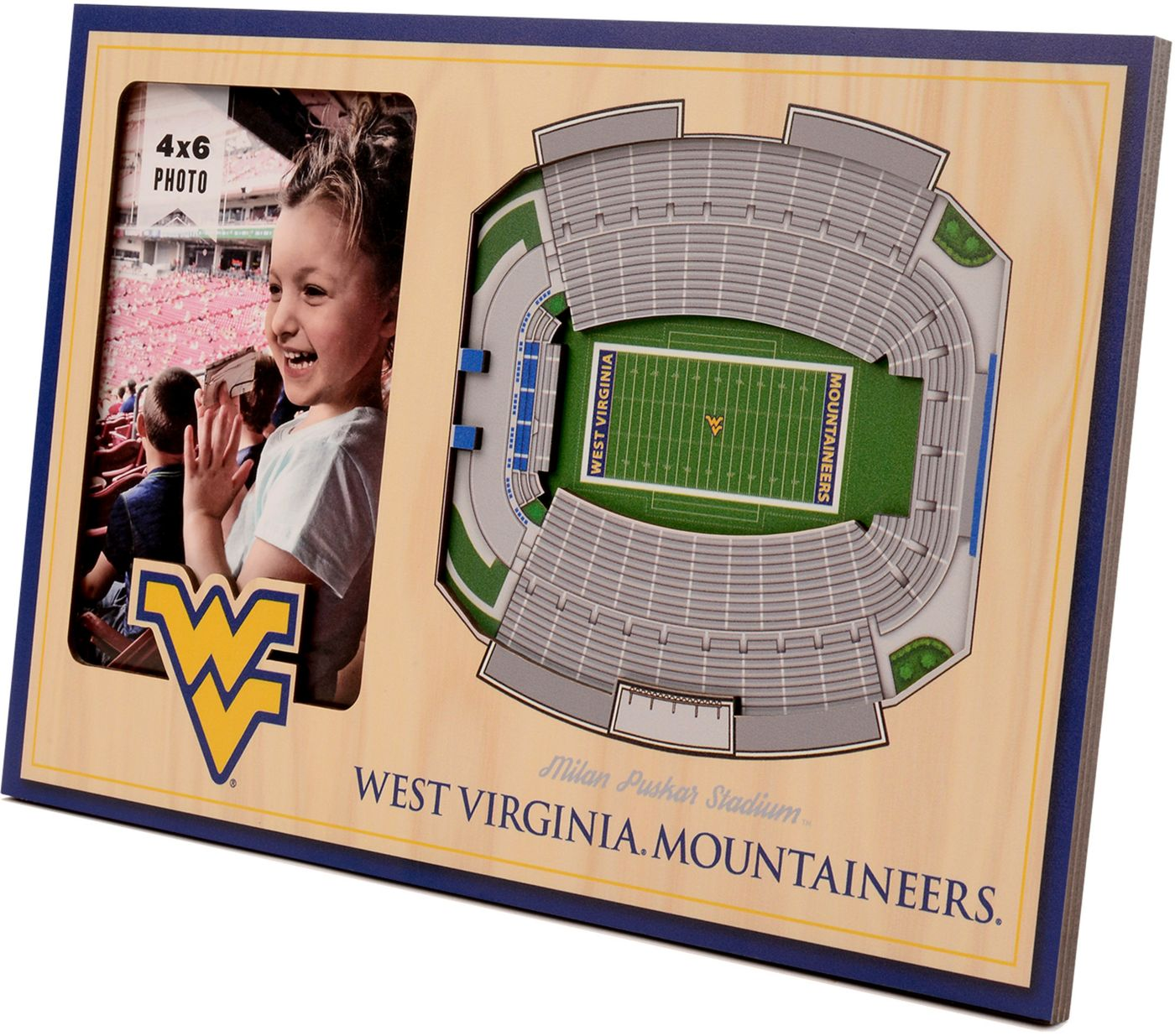 You the Fan West Virginia Mountaineers 3D Picture Frame