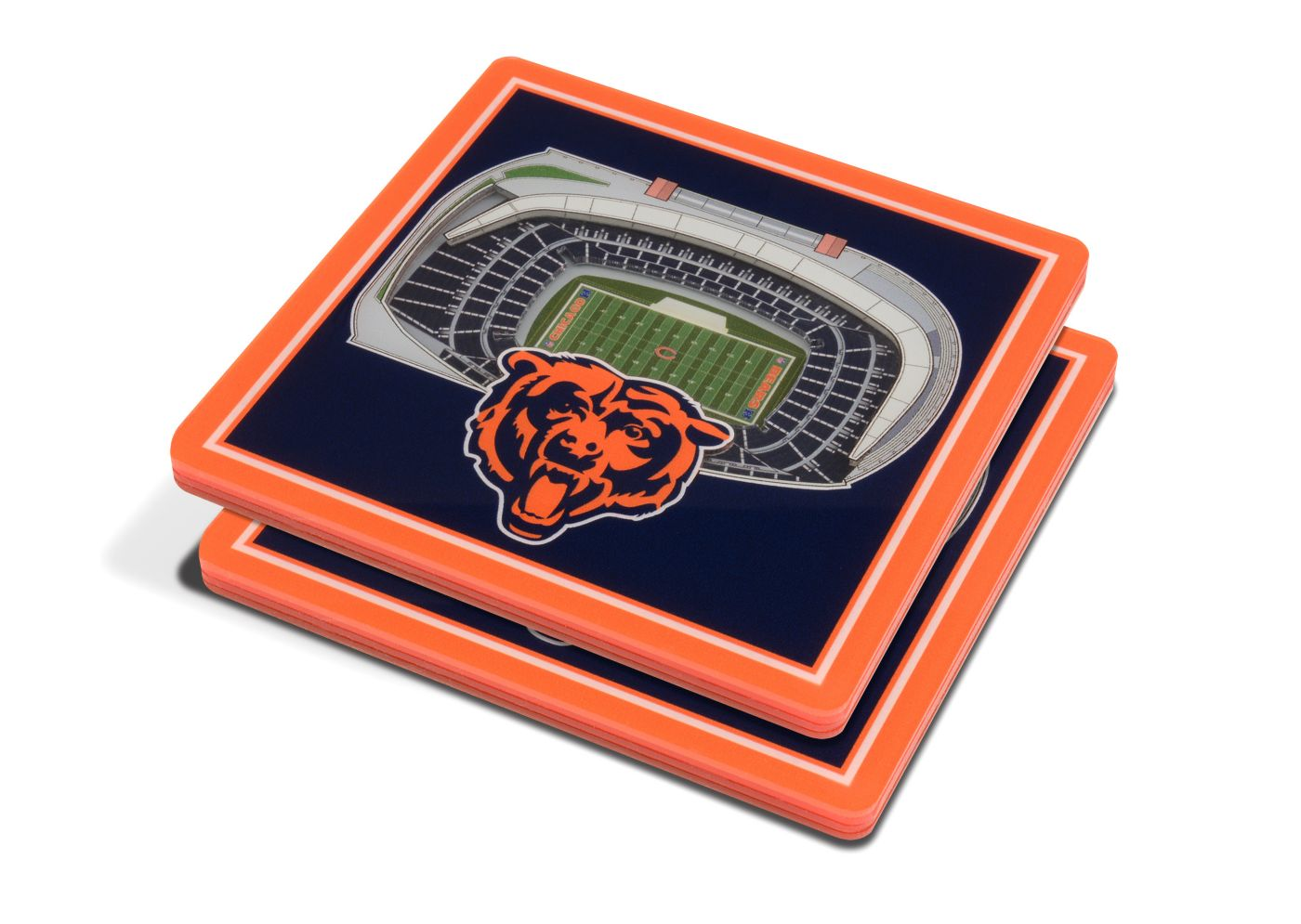 You the Fan Chicago Bears 3D Stadium Views Coaster Set