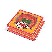 You the Fan Kansas City Chiefs 3D Stadium Views Coaster Set