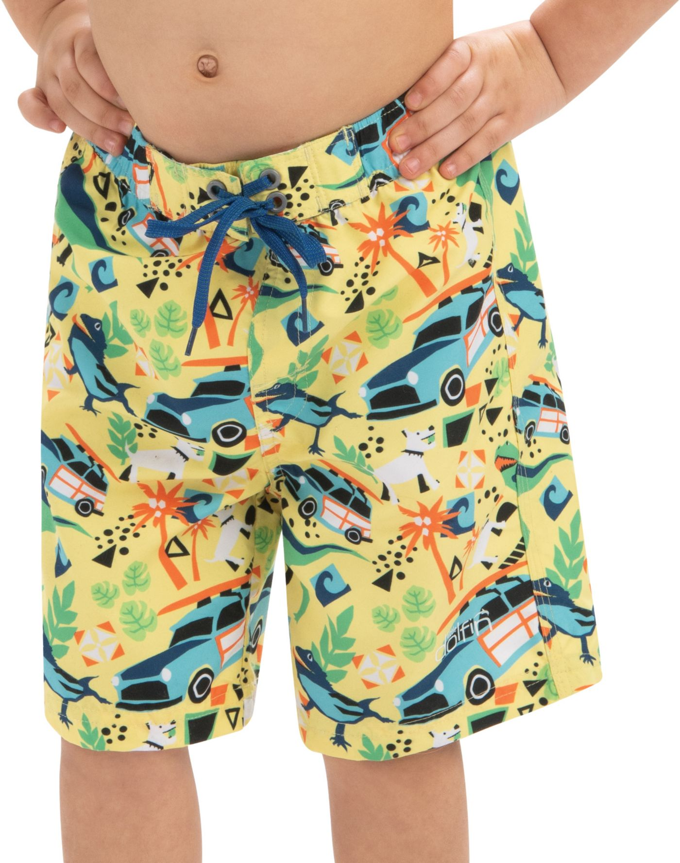 Dolfin Boys' Print Swim Trunks