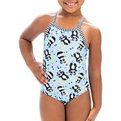Dolfin Girls' Uglies Pandie Print One Piece Swimsuit