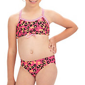 Dolfin Girls' Uglies Print Two Piece Swimsuit