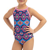 Dolfin Girls' Uglies Keyhole Back One Piece Swimsuit
