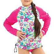Dolfin Girls' Long Sleeve Rash Guard