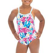 Dolfin Girls' Uglies Little Dolfin Print One Piece Swimsuit