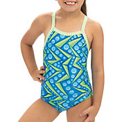 Dolfin Girls' Print One Piece Swimsuit
