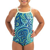 Dolfin Little Girls' Print One Piece Swimsuit