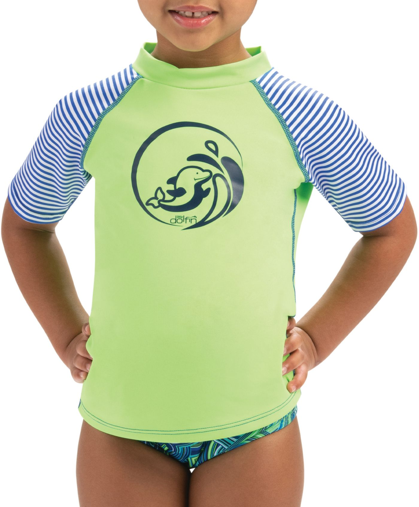 Dolfin Toddler Girls' Color Block Rash Guard