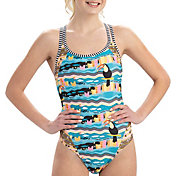 Dolfin Women's Uglies Double Strap Open Keyhole Back One Piece Swimsuit