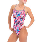 Dolfin Women's Uglies Print Double Strap Back One Piece Swimsuit