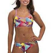 Dolfin Women's Uglies Print Workout Two Piece Bikini Set