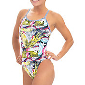 Dolfin Women's Uglies Print String Back One Piece Swimsuit