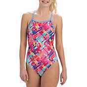 Dolfin Women's Uglies Print V-2 Back One Piece Swimsuit