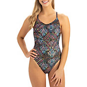 Dolfin Women's Uglies Revibe Print Low Crossback One Piece Swimsuit