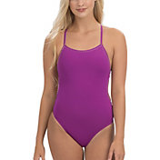 Dolfin Women's Uglies Revibe Solid Tie Back One Piece Swimsuit