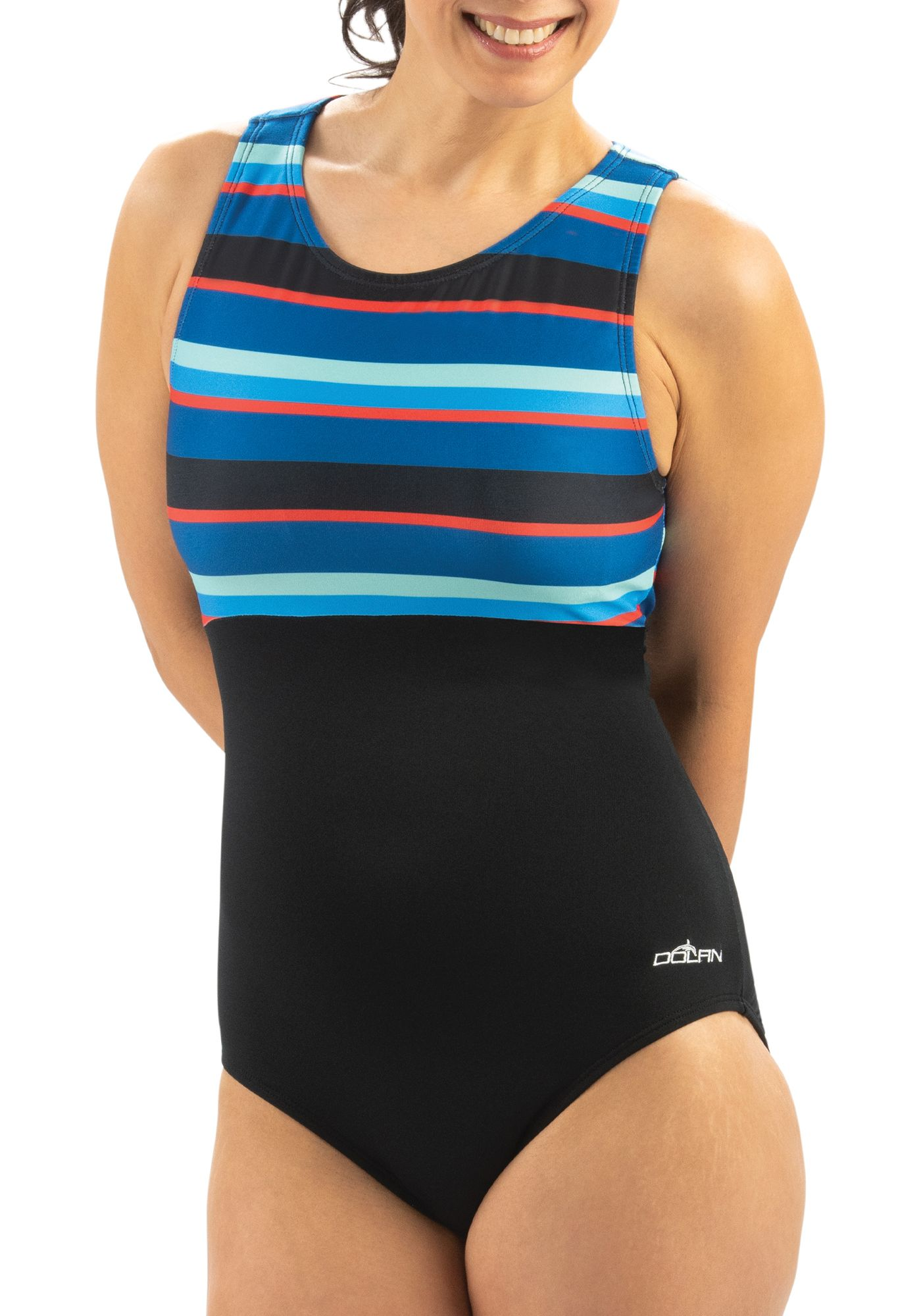 Dolfin Women's Aquashape High Clasp Neck Back One Piece Swimsuit