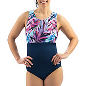 Dolfin Women's Aquashape High Clasp Neck Back One Piece Swimsuit