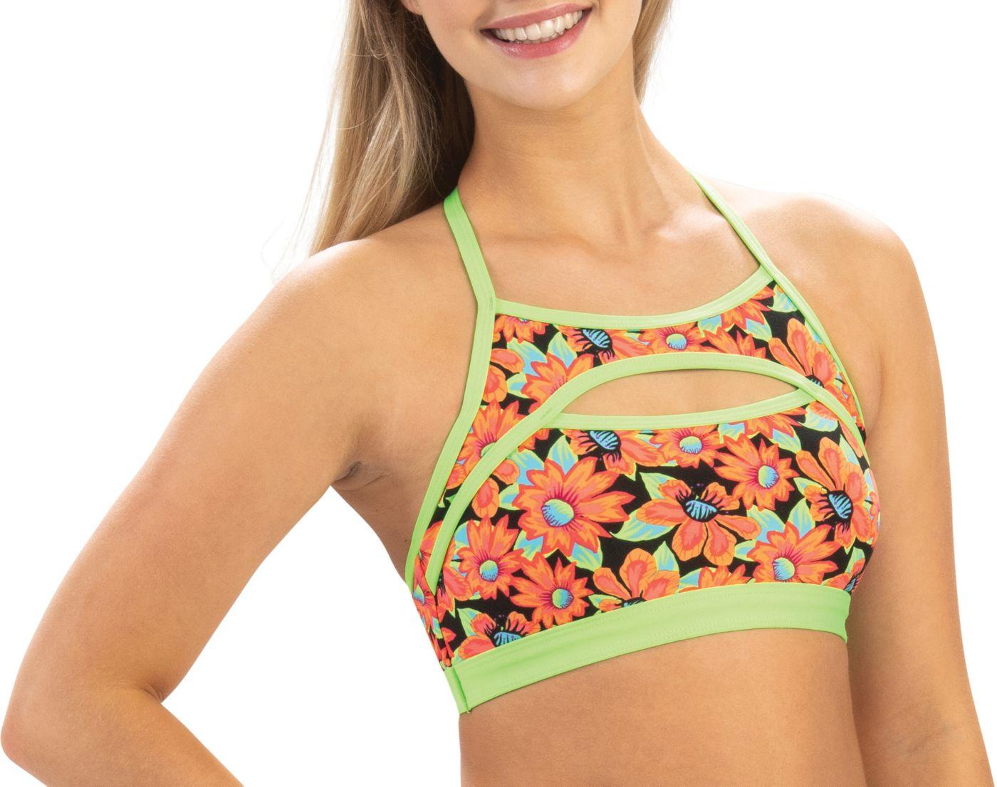 Dolfin Women's Revibe Print T-Back Bikini Top