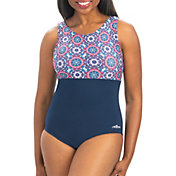 Dolfin Women's Aquashape High Clasp Neck Swimsuit
