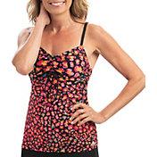 Dolfin Women's Aquashape Print Tie Front Tankini Top