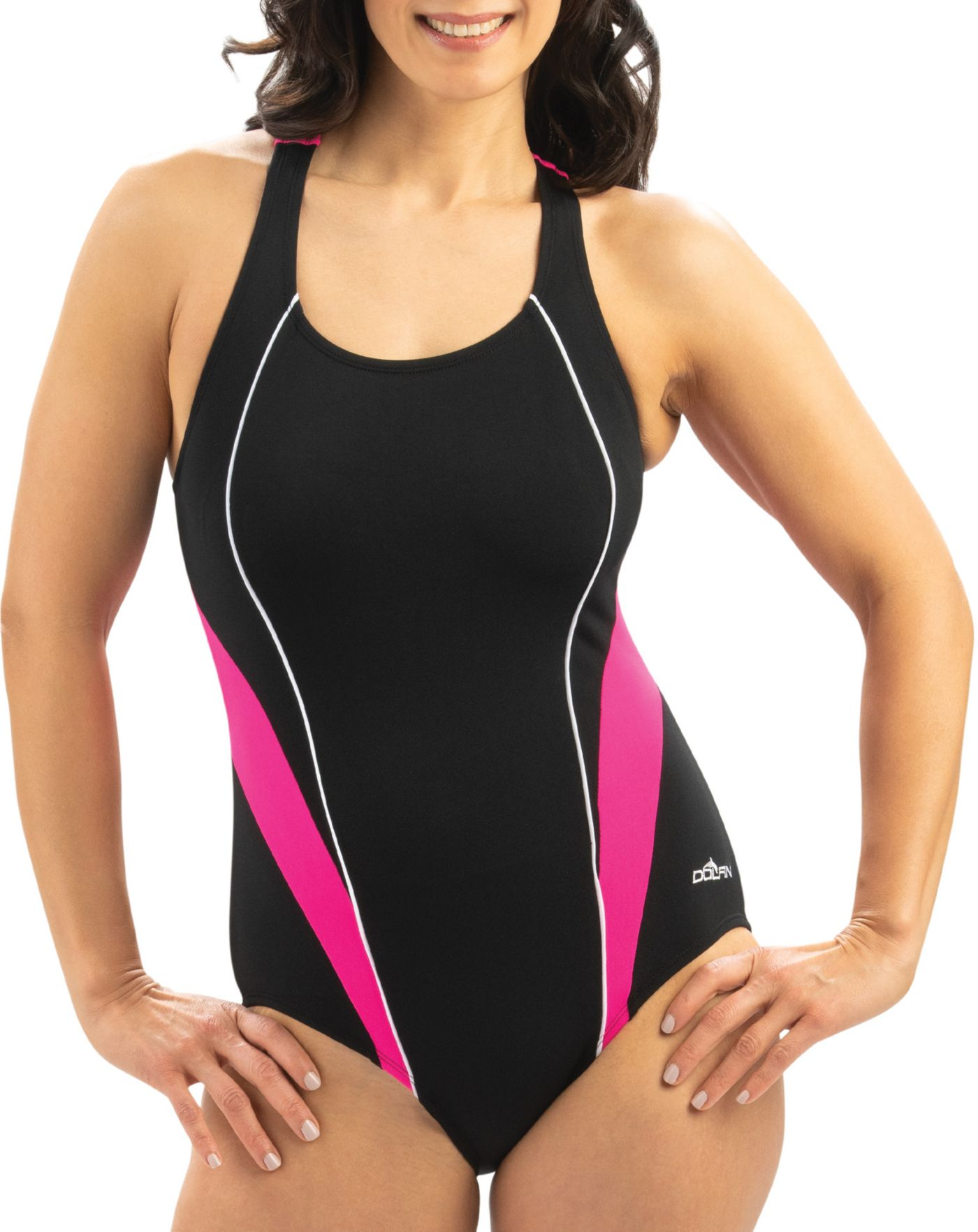 Dolfin Women's Aquashape Sporty Crossover One Piece Swimsuit
