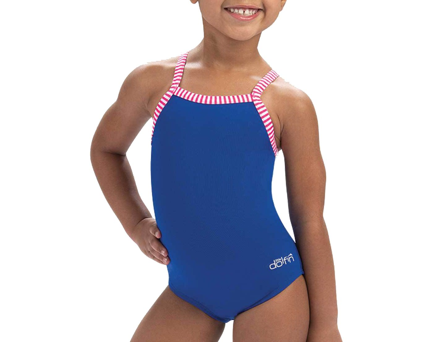Dolfin Youth Solid One Piece Swimsuit