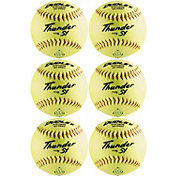 "Dudley 12"" ASA Thunder SY Slow Pitch Softballs - 6 Pack"