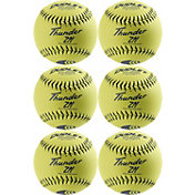 "Dudley 12"" USSSA Thunder ZN Slow Pitch Softballs - 6 Pack"